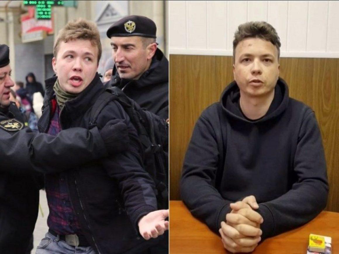 Žurnalistas Romanas Protasevičius sulaikomas. Kauno dienos fotomontažas