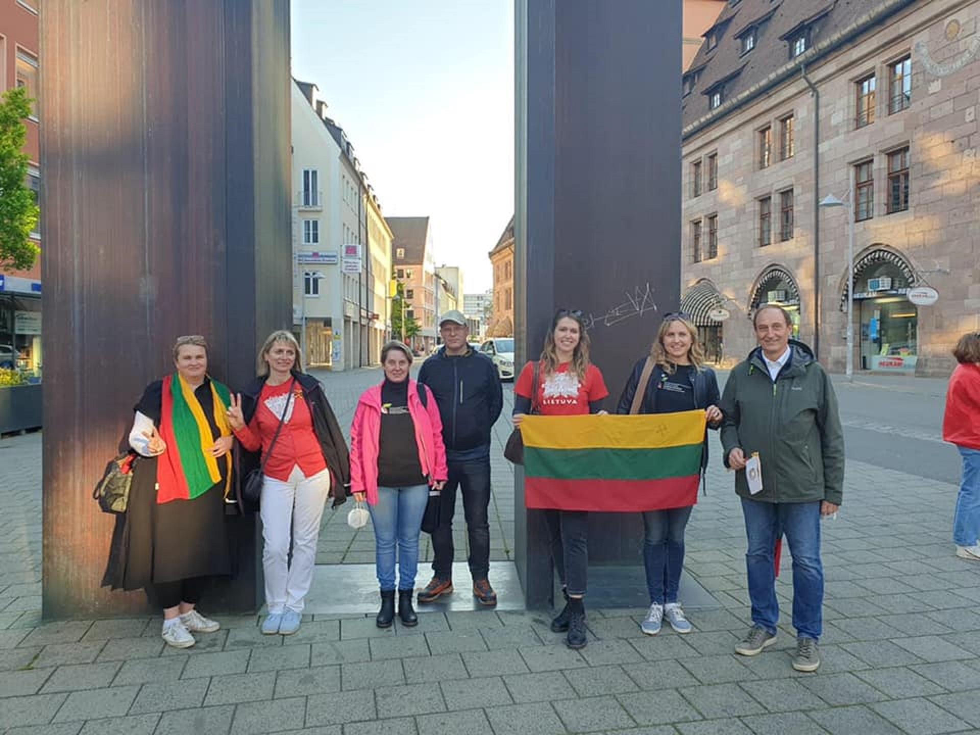 Neabejingi įvykiams Baltarusijoje ir Niurnbergo lietuviai (Vokietijos LB archyvo nuotr.)